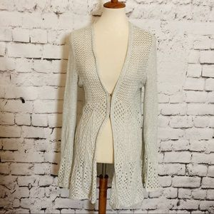 ANTHRO KNITTED & KNOTTED Crocheted Duster Cardigan